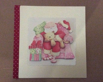 Card 3D square Santa 2 designs to choose from