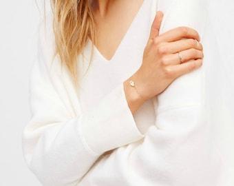 Hamsa Bracelet • Gold Charm bracelet • Hand of Fatima Bracelet • Evil Eye bracelet • CZ Bracelet • Gold Hamsa, Silver Hamsa, Rose Gold Hamsa