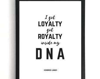 DNA - Kendrick Lamar Print