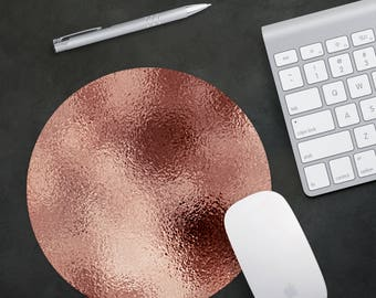 Mousepad, mouse pad, mouse mat, desk pad, desk mat, rose gold, desk accessories, rose gold, coworker gift, best friend gift, gifts for her