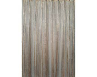 NEW...Shower Curtain Fringe Accessory.....Champagne Gold