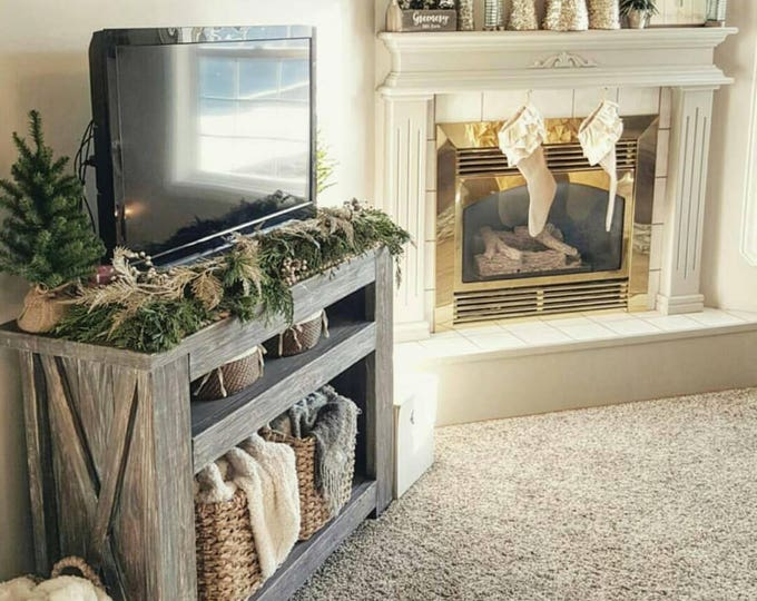 Farmhouse Console - TV Stand - Entryway Table - Farmhouse Furniture - Coffee Bar - Farmhouse Table - Farmhouse Decor - Framhouse Entryway