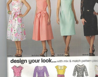 Sewing pattern Simplicity 6824 New Look design your look Dress sz 8-18 FREE SHIPPING (USA only)