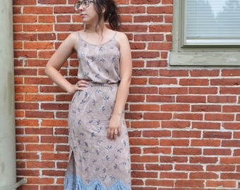 Matching Floral Tank Top & Maxi Skirt