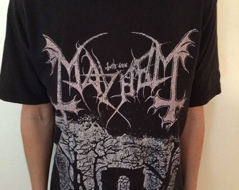 """Mayhem """"In Memoriam"""" Vintage Black Metal T-Shirt"""