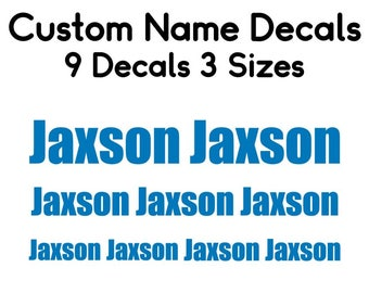 Back to School Name Labels, Set of 9 Name Decals, School Supply Labels, Personalized Name Decals, Lunch Box Decals, Kids Name Decals, Decals