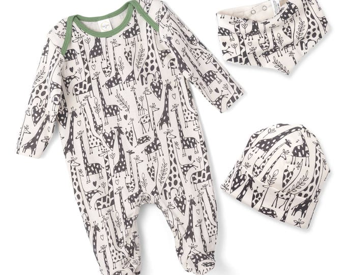 SPRING SALE! Newborn Baby Boy Coming Home Outfit, Infant Boy Romper, Baby Boy Giraffe Onesie Romper, Baby Bodysuit, Giraffe, TesaBabe