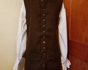 Colonial Waistcoat, Adult Size Medium, Ready to Ship