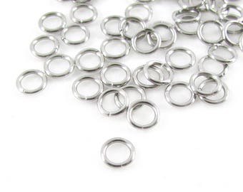 50pcs, 5mm Stainless Steel Jump Rings, 20ga, Stainless Jump Rings, Stainless Steel Jumprings Open Round Jump Rings Connectors, Chainmaille