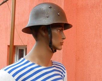 20% sale Vintage Army Helmet ,Military Helmet , Bulgarian Army Helmet ,Steel Helmet , Vintage Soldier Helmet , Cold War Collectibles,Militar
