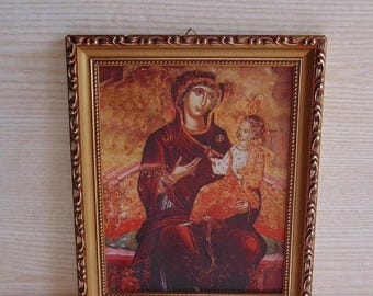 20% SALE Virgin Mary , Jesus Icon , Orthodox Icon , Religious Icons , Virgin Mary Icons, Print on canvas