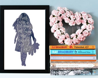 Wuthering Heights Quote Print, Emily Bronté Quote Print, Literary Print, Literary Gift, Wall Art Quote, Inspirational Quote, Literature Gift