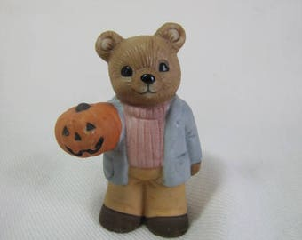 Cherished Teddy with Halloween Pumpkin 5209 Fall Cherished Teddy