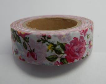 Rose Washi Tape 15mm X 10m