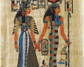 Egyptian Cross Stitch Pattern Pdf hieroglyphs pattern Egyptian pattern korss - 225 x 306 stitches - INSTANT Download - B1312