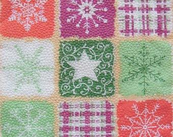 Set of 2 pcs 1-ply Winter collage paper napkins for Decoupage or collectibles 33x33cm, Paper napkins online shop, Decorative napkins Etsy