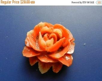 Summer Sale Vintage Red Coral Rose for Bracelet or Pendant