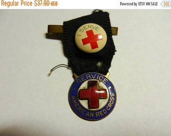 Summer Sale Original WW1 AEF American Red Cross Service Medal and Pin