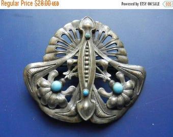 Summer Sale Vintage Art Nouveau Style Brooch