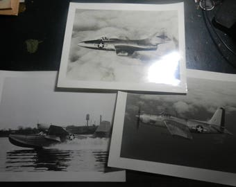 3 Post WW2 USAAF 8 by 10 Plane Pictures