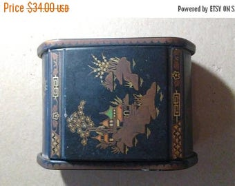 Easter Sale Vintage Chinese Rose Petal Box