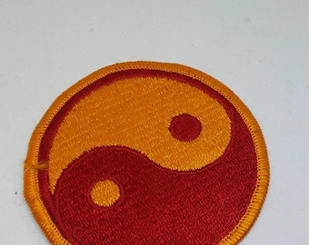 Easter Sale Vintage 1960s Yin Yang Patch
