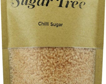 Chilli Sugar Crystals - Naturally Flavoured Chilli Sugar - Chilli Sugar - Flavoured Sugar - Gourmet Sugar
