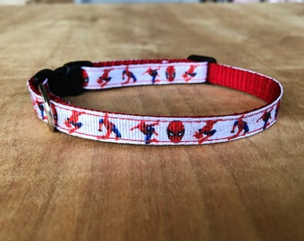 Spiderman Extra Small Dog Or Cat Collar