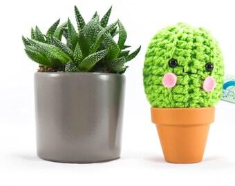 Crochet cactus, mini cactus, kawaii cactus, cute plant, succulent gift, crochet cactus, fake plant