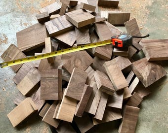 Bulk scrap pieces of wood for crafts, art projects, woodworking. All walnut.