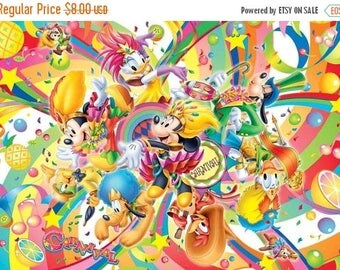 "disney carnival Counted Cross Stitch disney carnival Pattern דפוס תפר צלב вышивки крестом クロスステッチ - 35.43"" x 25.14"" - L714"
