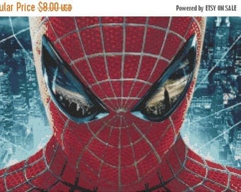 "Amazing Spider man Counted Cross Stitch Amazing Spider man Pattern ristipisto kuvio point de croix - 19.71"" x 12.57"" - L819"