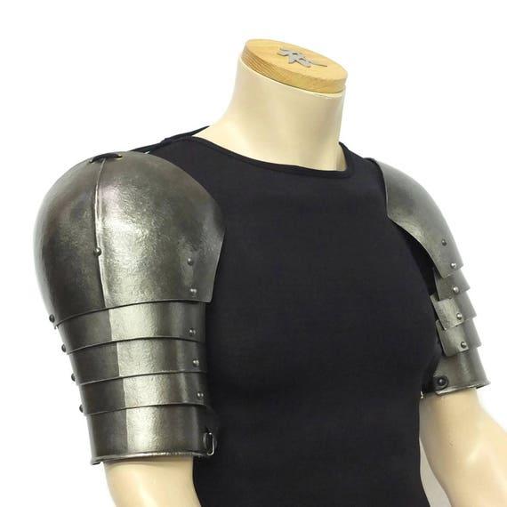 Larp Armor, Multi-plate Articulated Spaudlers, Pauldrons, spalders, spaulders,