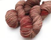Hand dyed yarn Dandy sock -'Chilli chocolate'