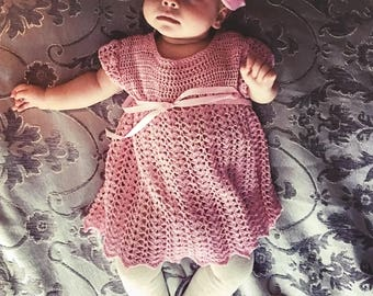 Vintage baby's crotcheted dress