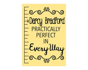 Mary Poppins Practically Perfect in Everyway - Personalised  gift Print