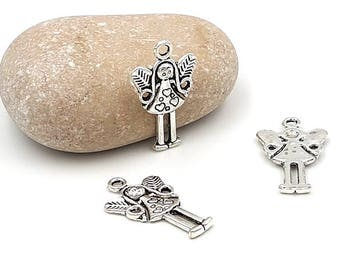 30 fairy Angel with wings charms