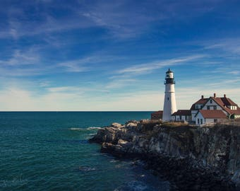 Fine Art Photography Print of The Portland Head Light Lighthouse in Cape Elizabeth, Maine