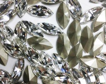 Swarovski Navette 4228 Crystal Foiled 15 x 7 MM