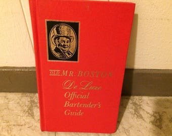 Old Mr. Boston Deluxe Official Bartender's Guide - 1969 Hardcover