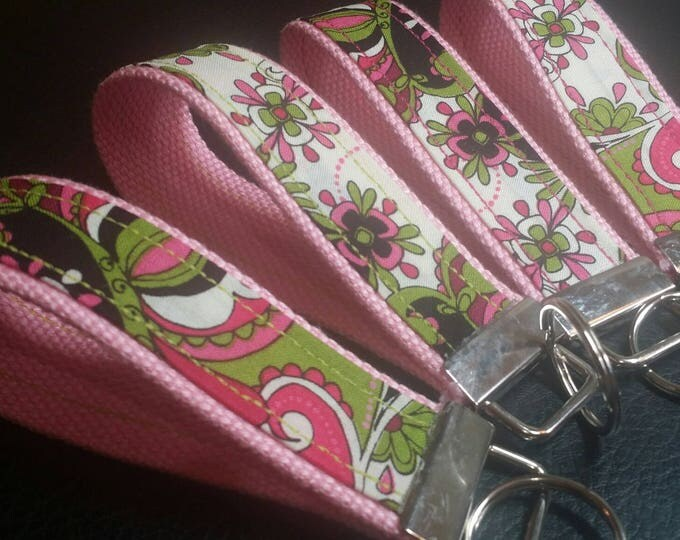 Key Chains-Key Rings-Key Fobs-Mod Squad Pink n' Light Pink Webbing