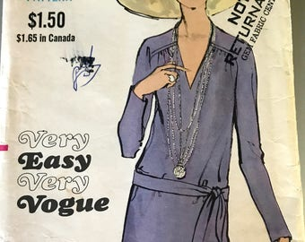 RARE Vogue Dress Pattern---Very Easy Very Vogue 7783--Size 12 Bust 34