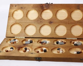 Pagala handcrafted original board game. Functional decor, unique and mysterious. Inspired by Mancala, Pente and Go.