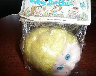 Vintage Baby Toothie Blonde Ponytail Doll Head