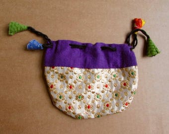 Gift Bags, Jewellery Pouch, Drawstring Pouch, Coin Purse Handmade, Mala Pouches S1 - 1 Giftbag