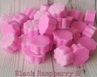 BLACK RASPBERRY SOY Melts, Raspberry Melts, Fruity Melts, Black Raspberry Melts, Vegan, Raspberry Wax Melts, Home Fragrance, Handmade in U.K