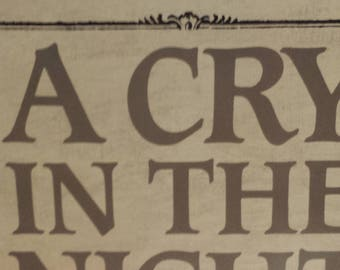 A Cry In The Night by Mary Higgins Clark - 1982