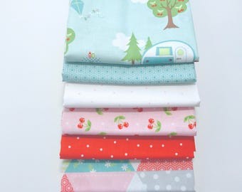 Sale!! 1/2 Yard Bundle Glamper-licious by Samantha Walker for Riley Blake Designs - 7 Fabrics