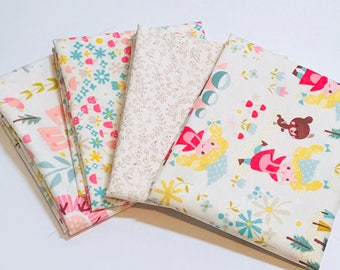 SALE!! Fat Quarter Bundle Golidlocks by Jill Howarth for Riley Blake Designs- 4  Fabrics
