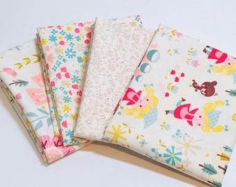 Fat Quarter Bundle Golidlocks by Jill Howarth for Riley Blake Designs- 4  Fabrics